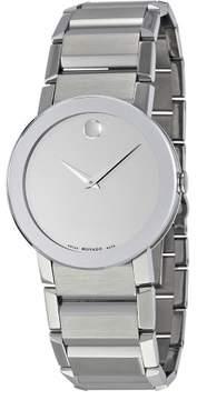 Movado Sapphire Silver Mirror Men's Watch 0606093