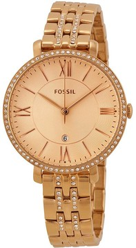 Fossil Jaqueline Rose Dial Rose Gold-plated Ladies Watch