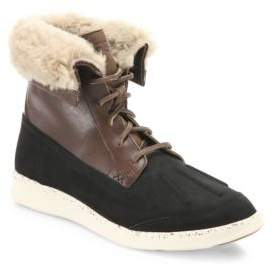UGG Fillmore Roskoe Leather& Suede Wool Lined Boots