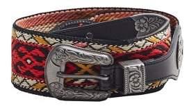 MANGO Embroidered belt