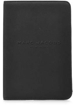 Marc Jacobs Logo Debossed Mini Tablet Notebook - BLACK - STYLE