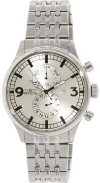 Invicta Men's Ii 0366 Silver Stainless-Steel Swiss Quartz Dress Watch