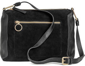 H&M Suede and leather shoulder bag - Black