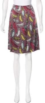 Cacharel Printed Silk Skirt