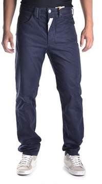 Galliano Men's Blue Cotton Pants.