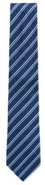 BOSS Hugo Striped Italian Silk Repp Tie One Size Blue