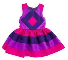 Halabaloo Little Girl's Colorblock A-Line Dress