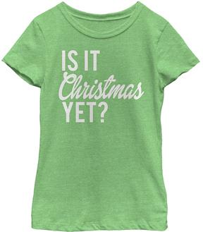 Fifth Sun Green Apple 'Is it Christmas Yet' Tee - Girls