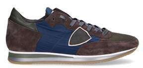 Philippe Model Men's Brown Suede Sneakers.