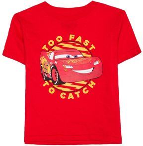 Disney Toddler Boy Pixar Cars Lightning McQueen Too Fast To Catch Graphic Tee