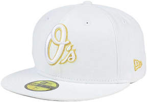 New Era Baltimore Orioles White On Metallic 59FIFTY Cap