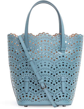 Alaia Light blue laser cut tote bag