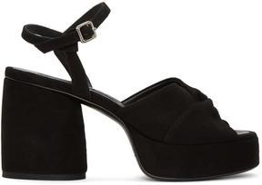 McQ Black Suede Arizona Sandals