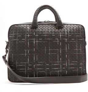 Bottega Veneta Intrecciato stitch-detail leather briefcase