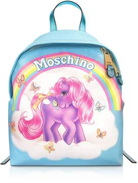 Moschino My Little Pony Light Blue Backpack