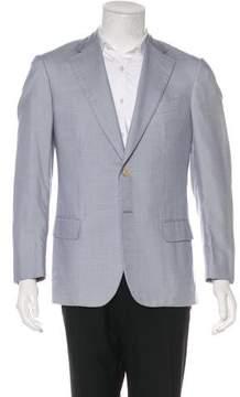Pal Zileri Cashmere & Silk-Blend Herringbone Blazer
