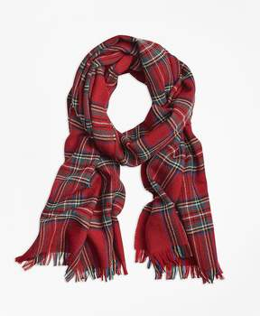 Brooks Brothers Tartan Wool Scarf
