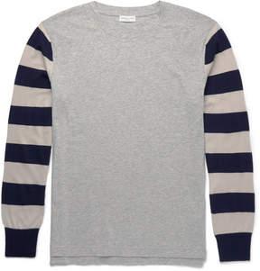 Dries Van Noten Slim-Fit Striped Cotton-Jersey And Merino Wool T-Shirt