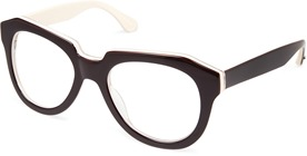 Cynthia Rowley Black Fashion Plastic Eyeglasses.