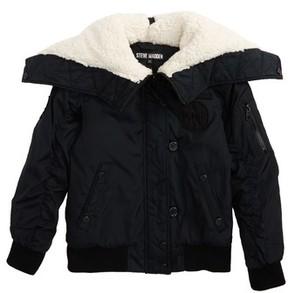 Steve Madden Girl's Hooded Bomber Jacket