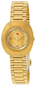 Rado The Original S Automatic Gold Dial Ladies Watch