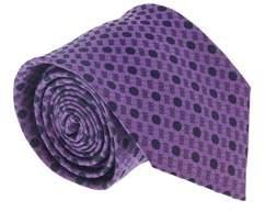 Ermenegildo Zegna Blue 100% Silk Micro Neat Tie.