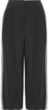 ADAM by Adam Lippes Crystal-embellished Cady Culottes - Black