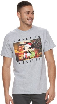 Disney Men's Mickey Mouse I Want To Believe Tee