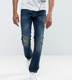 Blend of America Twister Slim Fit Jean Ripped Dark Wash