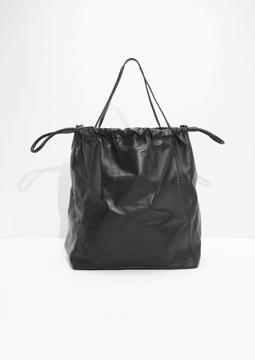 Oversized Drawstring Tote