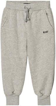 Bobo Choses Grey Melange Embroidered Track Pants