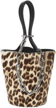 Alexander Wang Roxy Leopard Mini Bucket Bag