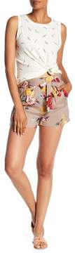 Angie Printed Waist Tie Shorts