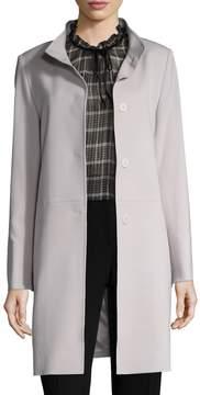 Cinzia Rocca Women's Wool Stand Collar Coat