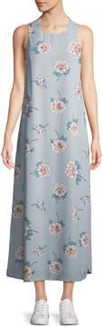 J.o.a. Floral Crisscross-Back Maxi-Dress