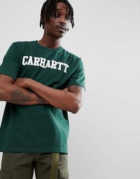 Carhartt WIP College T-Shirt In Green