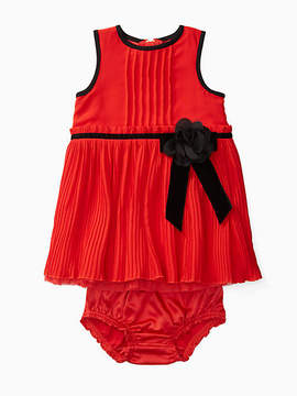 Kate Spade Babies pleated chiffon dress set