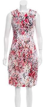 Carolina Herrera Brush Stroke Print Sheath Dress