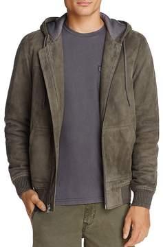 Michael Bastian Suede Hoodie Jacket