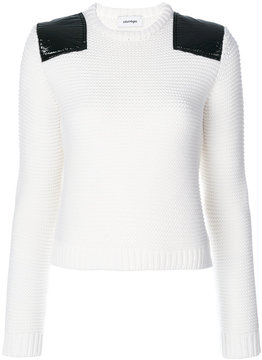 Courreges shoulder patch jumper