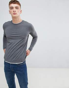 Esprit Long Sleeve T-Shirt With Double Layer Neck