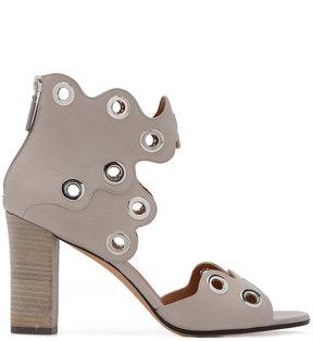 Derek Lam eyelet scalloped sandals