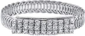 1928 Crystal Overlapping Circle Bangle Bracelet