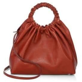 The Row Medium Double Circle Leather Hobo Bag