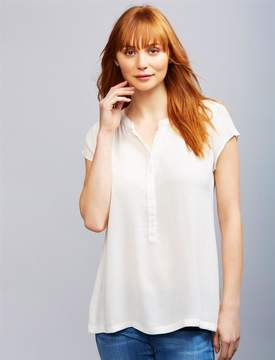 A Pea in the Pod Lift Up Button Front Nursing Top