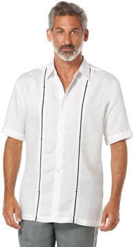 Cubavera Linen Blend Short Sleeve Shirt