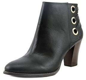 INC International Concepts Jesaa Women Round Toe Leather Black Ankle Boot.