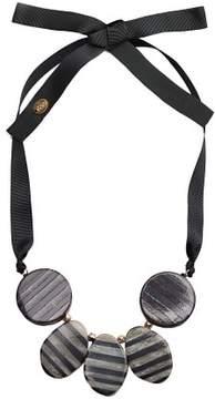 Violeta BY MANGO Bead stone necklace