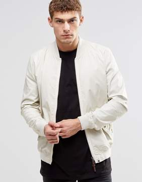 Pretty Green Bomber Jacket In White