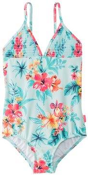 Seafolly Girls' Luau Lu Lu Tank One Piece Swimsuit (2T7) - 8148038